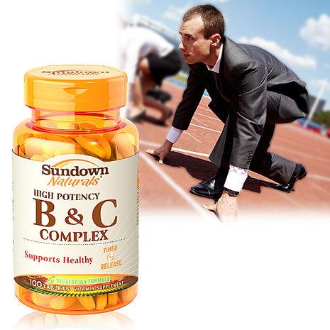 美國Sundown日落恩賜 高單位緩釋型B群+C(B12強化配方) (100錠/瓶)
