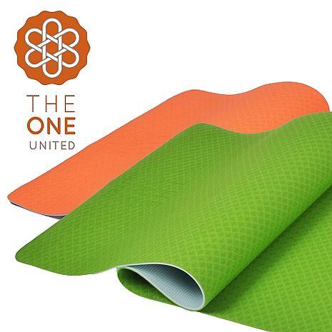 【The One】環保TPE雙色瑜珈墊 6mm亮橙