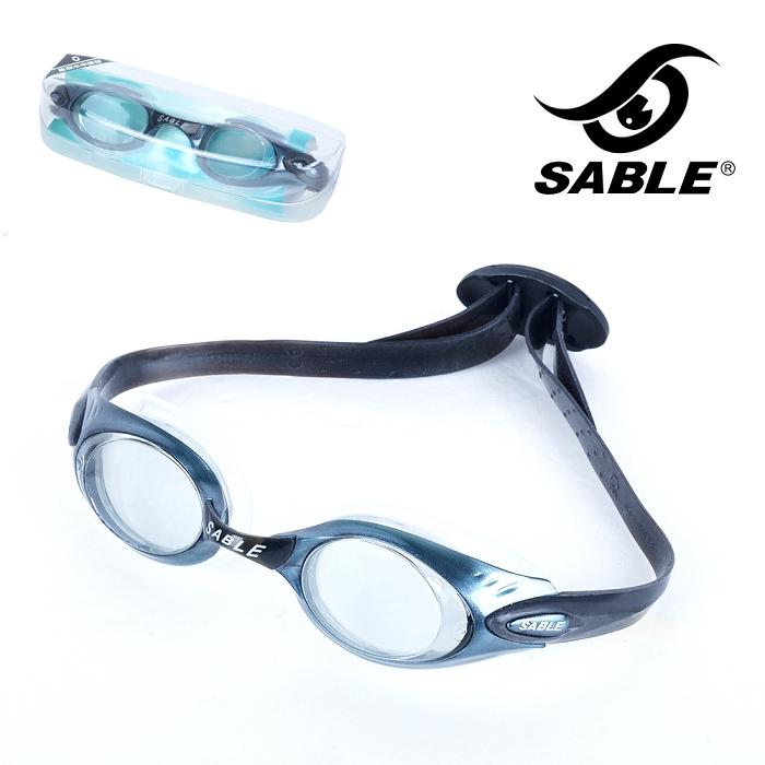 【黑貂SABLE】休閒亮麗 標準光學平光運動泳鏡琥珀