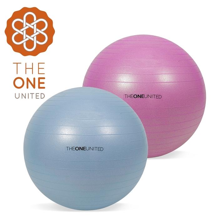 【The One】環保TPE防爆瑜珈球65cm(附打氣筒)氣泡藍