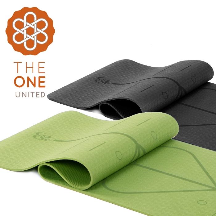 【The One】環保TPE正位線瑜珈墊 6mm森林綠