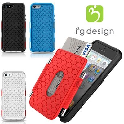 i3g YPACK 可拆式螢幕保護蓋 可放悠遊卡 防摔抗衝擊 iPhone5 /5S 軟性保護背蓋