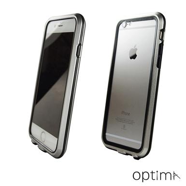 Optima iPhone 6 Metal Bumper 雙層防護 鋁合金邊框 [銀]