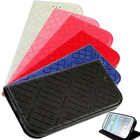 KooPin 三星 Galaxy Grand Neo i9060 隱磁系列 超薄可立式側掀皮套-手機平板配件-myfone購物
