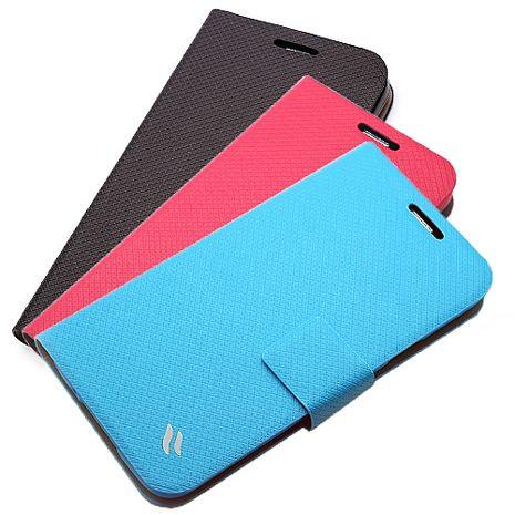Redberry SAMSUNG Galaxy S5 (i9600) 甜漾簡約 立架式本皮套蜜桃紅