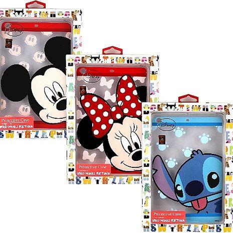 【Disney迪士尼】iPad Mini Retina /iPad Mini 2 大頭系列彩繪透明保護軟套米奇