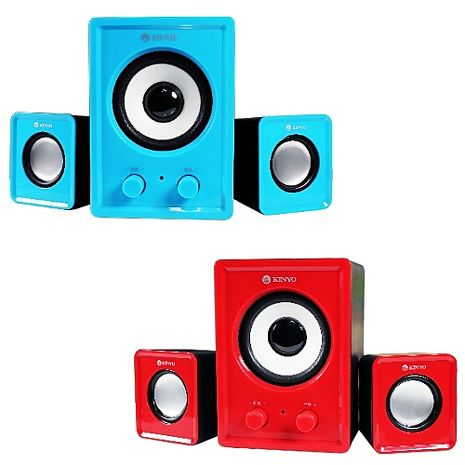 KINYO【音樂大師】魅力肆色USB 2.1立體擴大喇叭US-179晴空藍