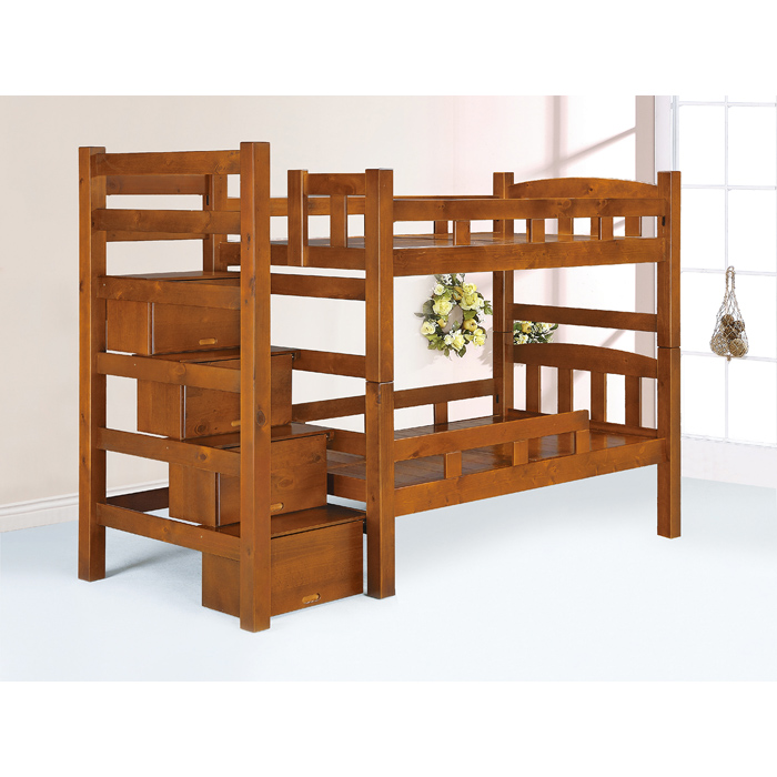 抽屜式3.5尺雙層床
