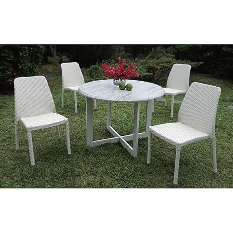 鋁合金圓桌椅組(一桌四椅)