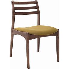 蘿芬妮胡桃色餐椅 綠色布坐墊
