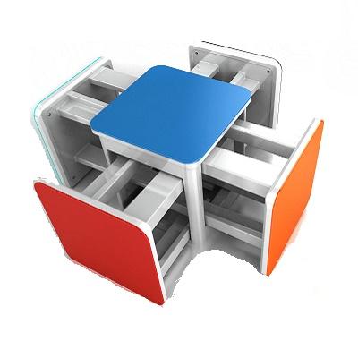 五合一組合椅