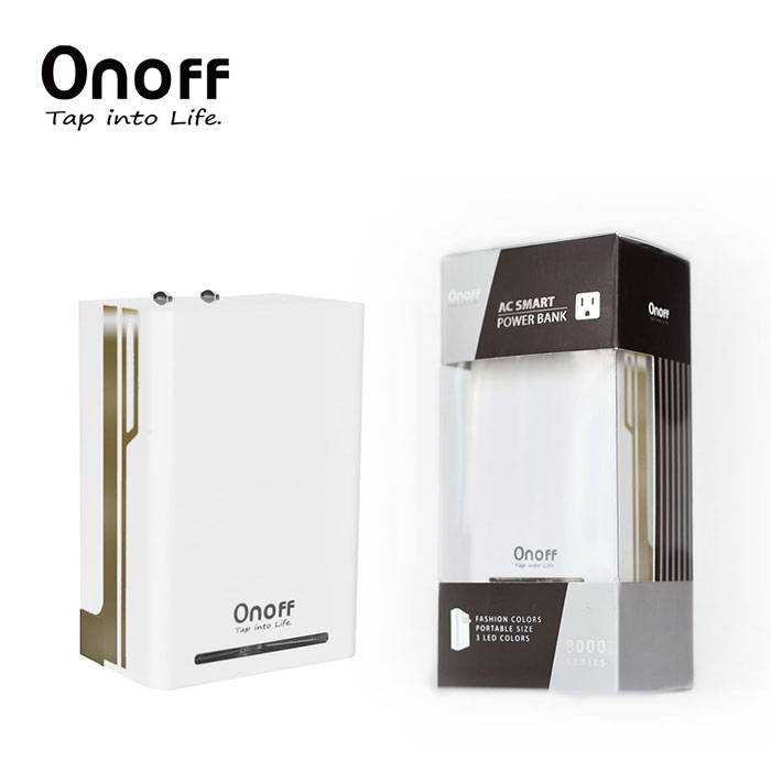 Onoff歐諾夫 A6 專利插頭8000型移動電源