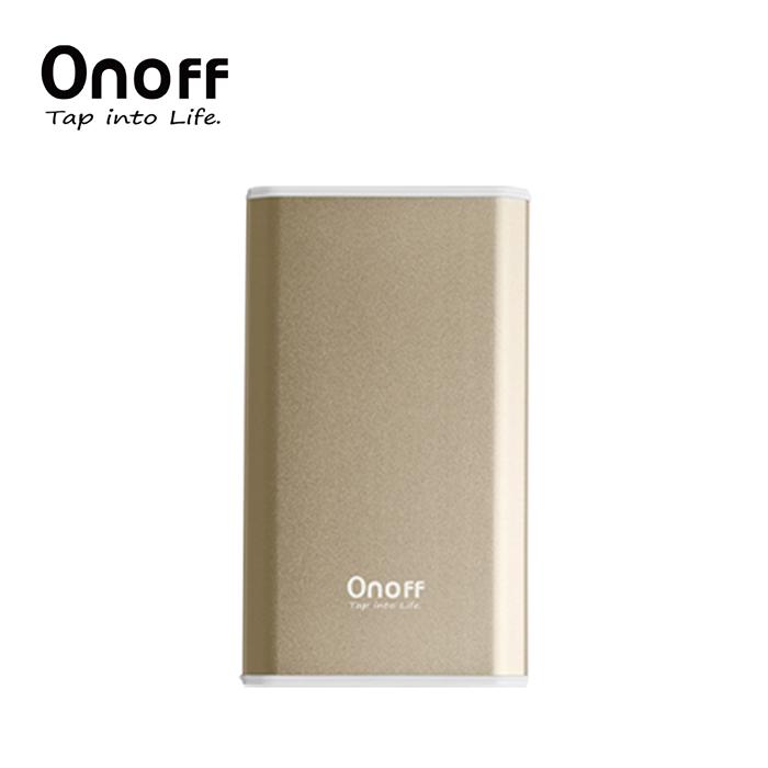 Onoff D3系列首創金屬摺邊行動電源10000mAh金色