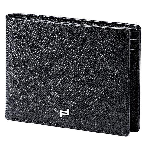 【PORSCHE DESIGN 保時捷】P3300 French Classic 3.0 Cardholder H8 blk小牛皮防刮壓紋 / 8卡短夾皮夾