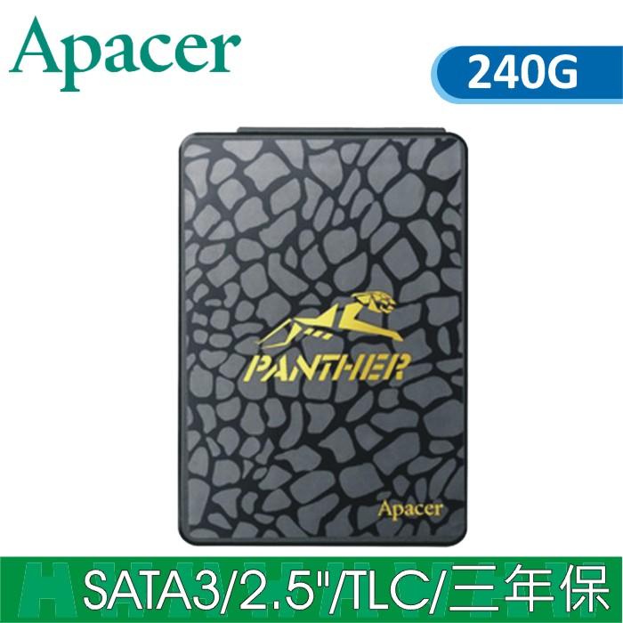 Apacer PANTHER黑豹 AS340 SSD 固態硬碟 SATA3 240G