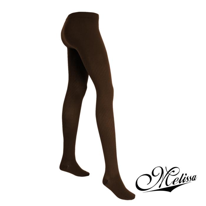 《Melissa 魅莉莎》醫療級時尚彈性美腿襪─褲襪(茶花咖)S