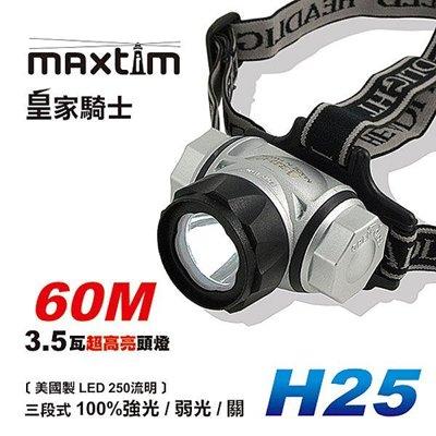 皇家騎士 H25 高亮頭燈 美國CREE LED 長時間使用 台灣製造 保固一年