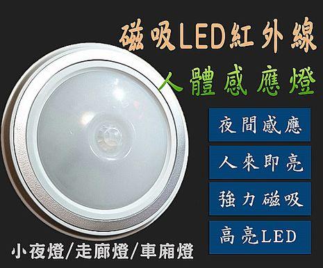 磁吸LED紅外線人體節能感應燈 超亮5LED燈珠 白光 黃光 小夜燈 衣櫃燈 車廂燈 人體感應 光源感應 照射距離大 感應靈敏白光