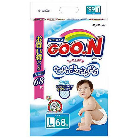 預購-10/20發貨-日本境內阿福狗-大王增量(黏貼型)L68片*3包