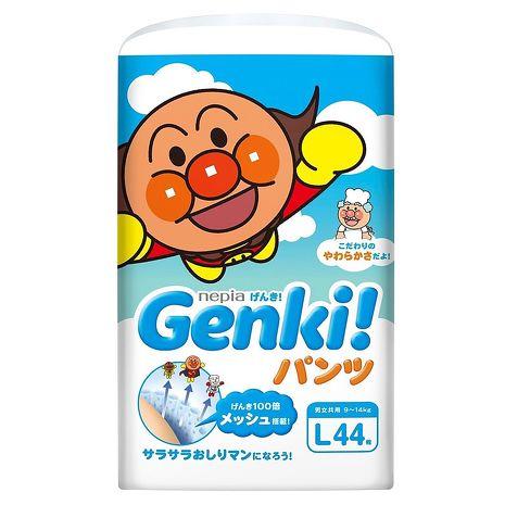 【日本國內限定販售版】麵包超人-GENKI(拉拉褲)L44片*3包