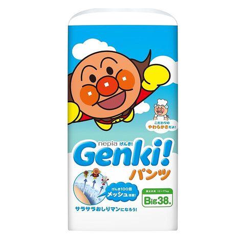 預購【日本國內限定販售版】-麵包超人-GENKI(褲型)XL38片*3包