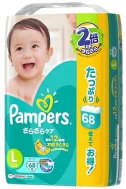 【日本國內限定販售單包增量版】幫寶適綠色巧虎(黏貼)L68片