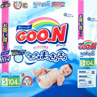 【日本國內限定販售單包增量版】GOO.N-大王(黏貼型)S104片