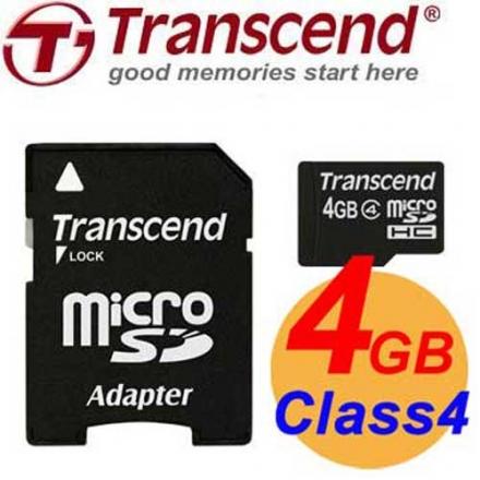 Transcend 創見 4GB microSDHC TF Class4 記憶卡