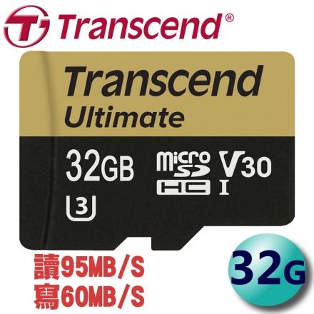 Transcend 創見 32GB 95MB/s microSDHC TF U3 V30 記憶卡