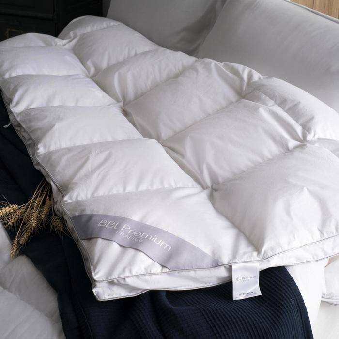 【BBL Premium】肯尼斯-JIS60/40雙人側立羽絨冬被(銀灰)