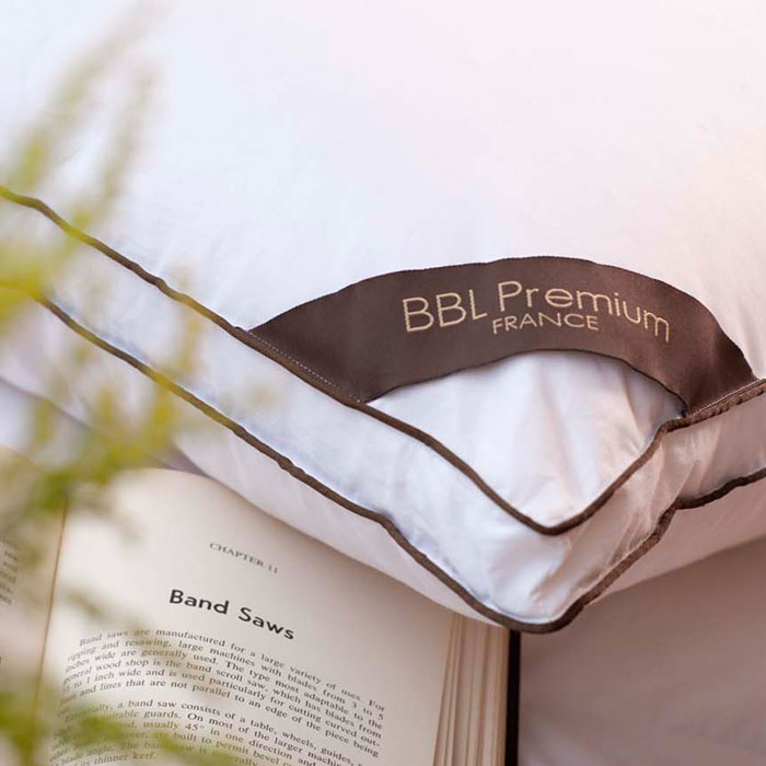 【BBL Premium】匈牙利五星舒眠JIS25/75側立羽絨枕(咖)