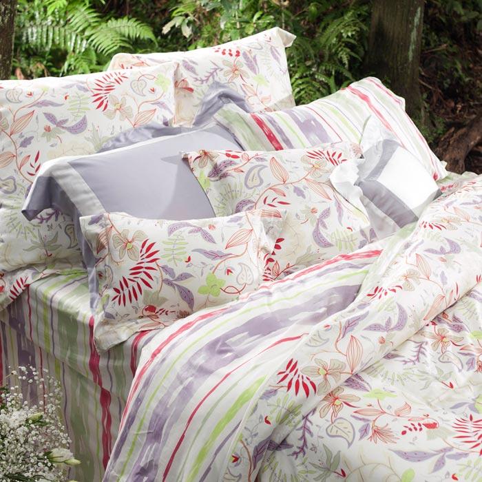 【BBL Premium】自由之心100%棉印花雙人床包組
