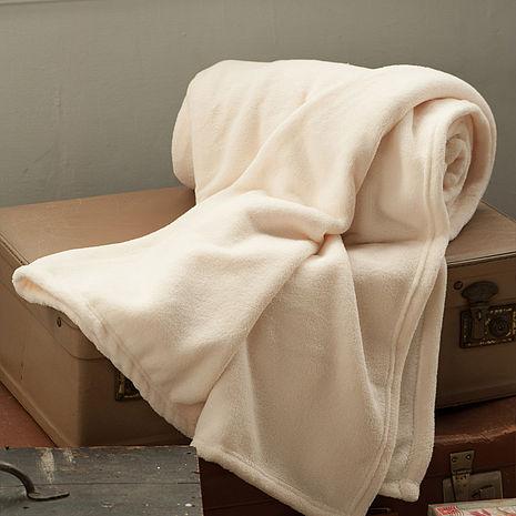 【BBL Premium】超纖柔多功能素色舒眠毯(象牙白)