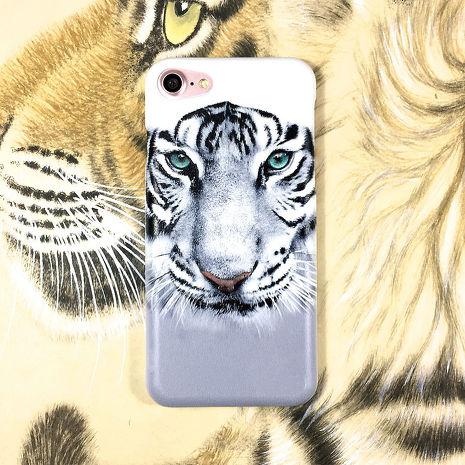 iPhone 6S/6 (4.7吋) 中台日專利悠遊卡手機殼+3D立體浮雕列印,王者雪虎-雪狐白 I AM I
