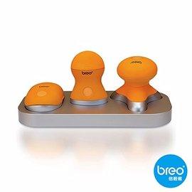 Breo倍輕鬆 輕巧按摩器三件組 Mini319 特製35個無靜電按摩觸點 放鬆頭部壓力 M-319