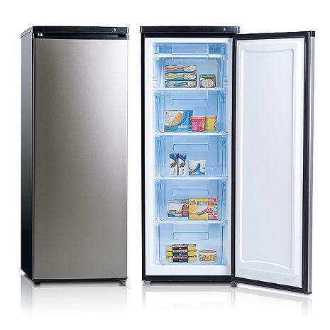 美國富及第 Frigidaire FRT-1855MZ 立式185公升冷凍櫃 黑銀色 ◆冷凍可達-28度