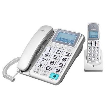 WONDER 旺德 2.4G超大字鍵數位子母無線電話 WT-D03 (紅、銀兩色)