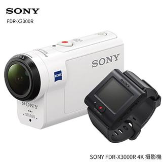 SONY FDR-X3000R 運動攝影機 商品組合含FDR-X3000、 RM-LVR3 新即時檢視遙控器 ★送電池(共2顆)+16G高速卡+清潔組