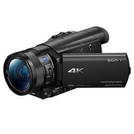 SONY FDR-AX100 4K高畫質記憶卡式攝影機公司貨 ★107/4/29前贈原廠電池(共兩顆)+座充+拭鏡筆+吹球組