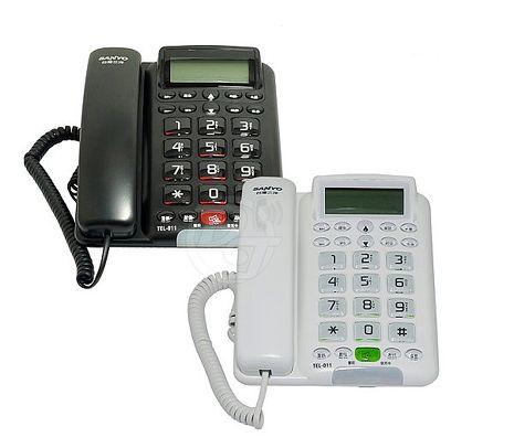 台灣哈理 三洋 SANYO 來電顯示有線電話 TEL-011 白/黑 2色白