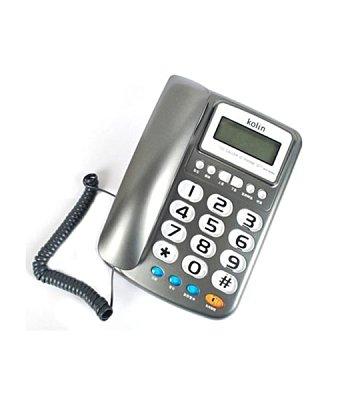 台灣哈理 歌林 來電顯示有線電話 KTP-DS002 紅/ 鐵灰 2色紅