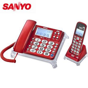 台灣哈理 SANLUX 台灣三洋 數位親子機電話 DCT-8915 紅