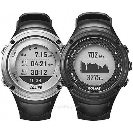 GOLiFE GoWatch X-PRO 全方位戶外GPS智慧運動錶 黑 /銀色黑