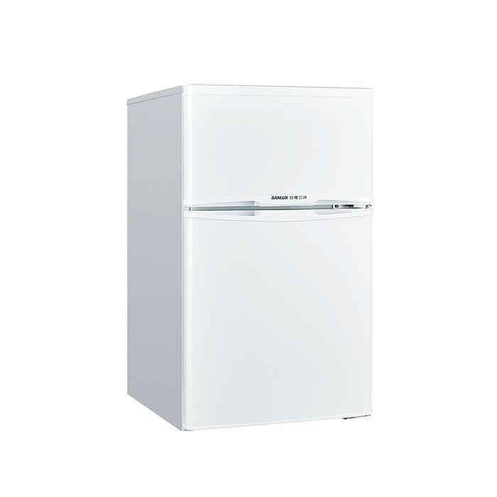 【SANLUX台灣三洋】 102L 1級定頻雙門電冰箱SR-C102B1