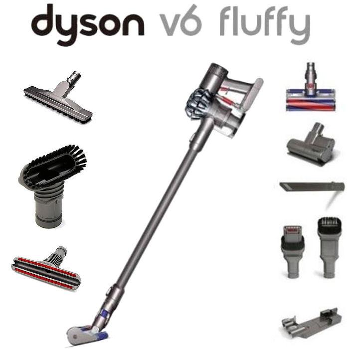 Dyson V6 fluffy 無線式吸塵器完整七吸頭(含2個電動吸頭、床墊吸頭、木地板吸頭) (同台灣戴森)