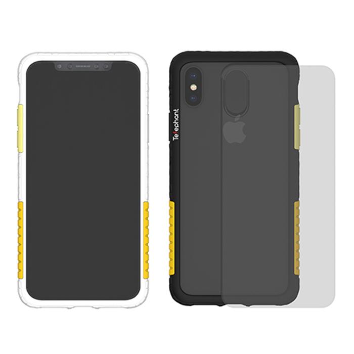 太樂芬 NMDER iPhone XS Max 抗汙防摔邊框含背蓋手機殼-芭娜娜