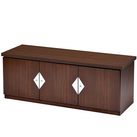 Homelike 雅典胡桃4尺坐式鞋櫃
