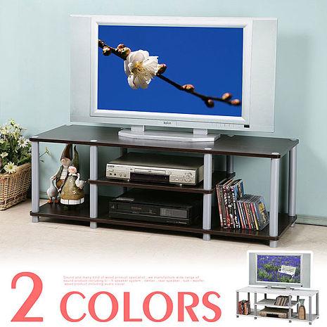 Homelike 120cm電視系統架(二色)白色