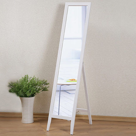【特賣】Homelike 自然風味純白穿衣鏡