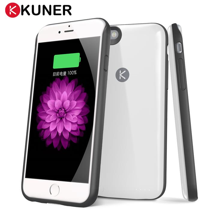 KUKE 酷殼 炫彩款 iPhone 6 /6s 電池背蓋珍珠白
